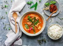 Rotes Thai Curry mit Tofu - vegan