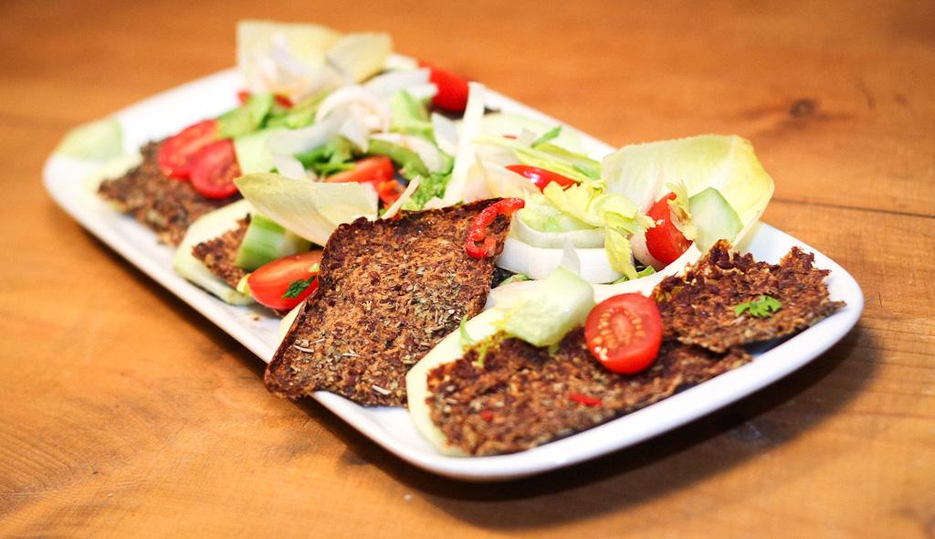 Crunchy Leinsamen-Cracker