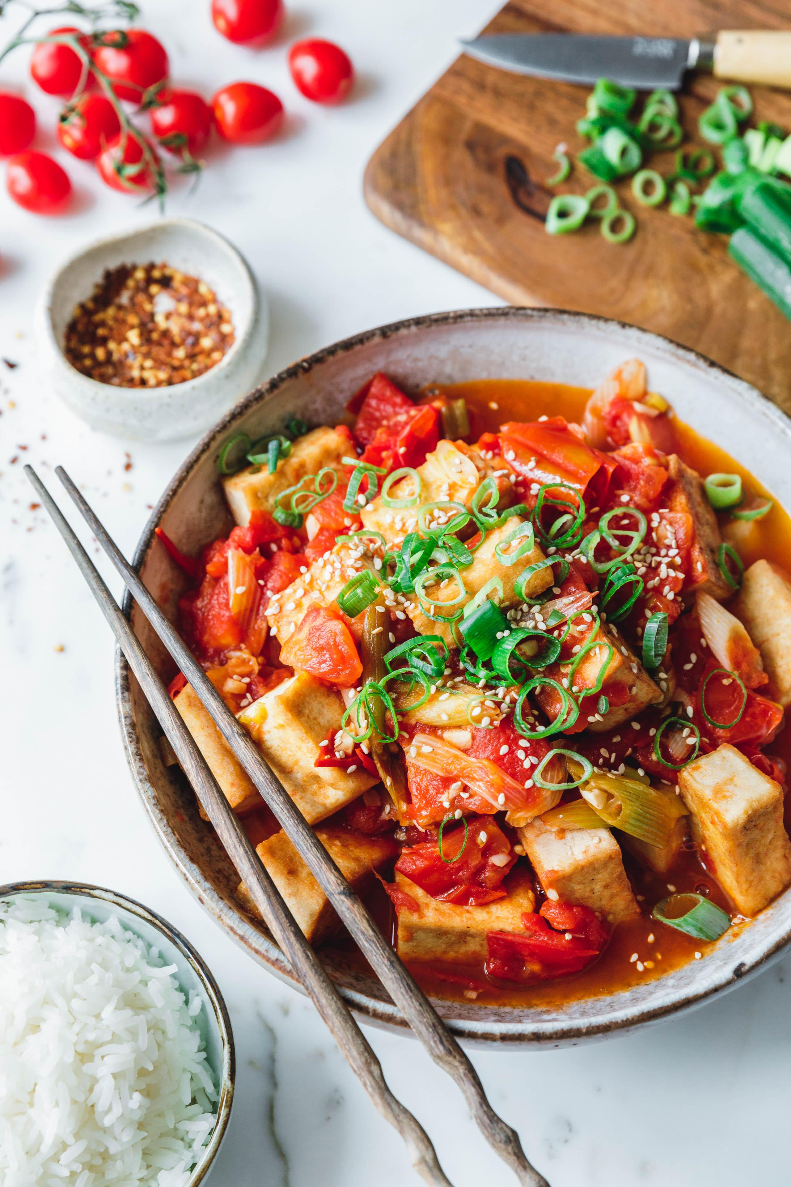 Vietnamesischer Tomaten Tofu