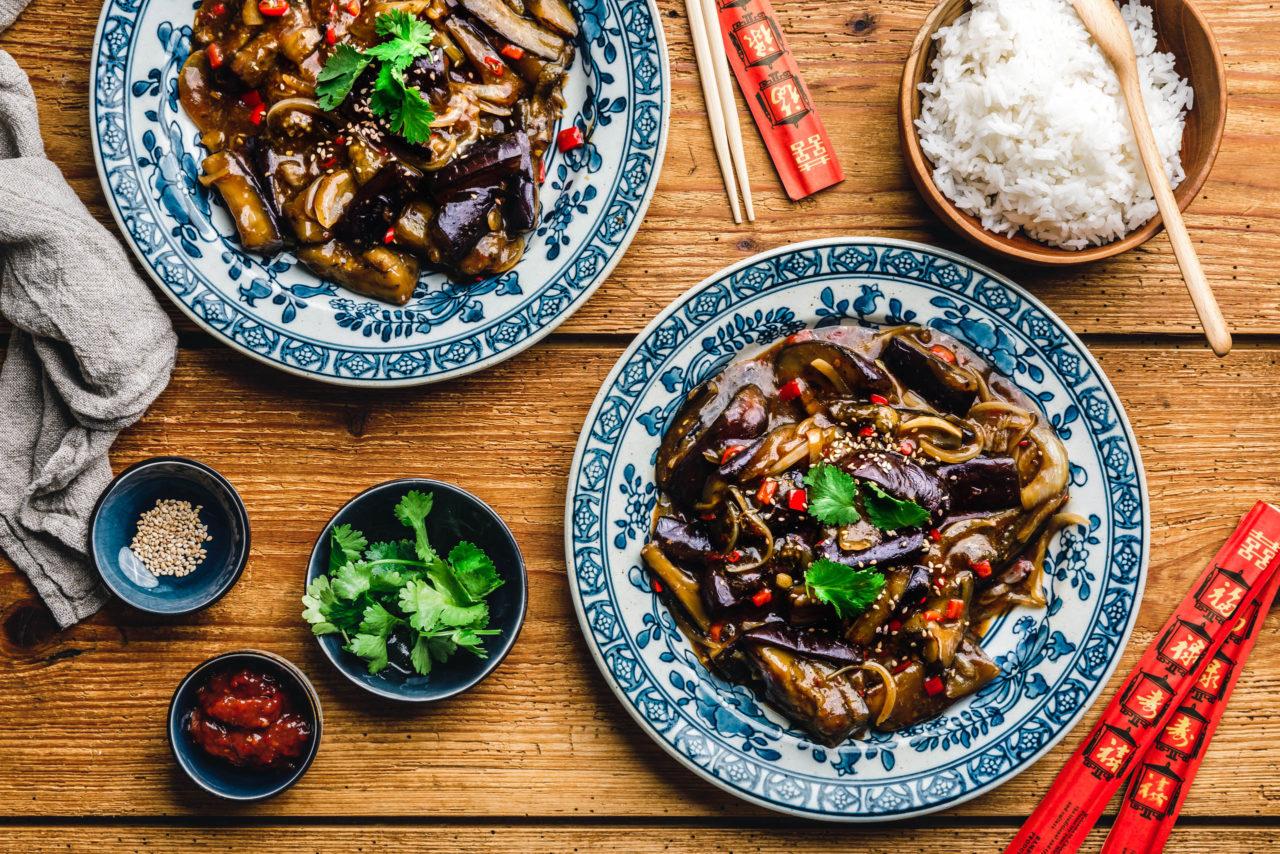 Geschmorte Szechuan-Auberginen – Yu Xiang Qie Zi