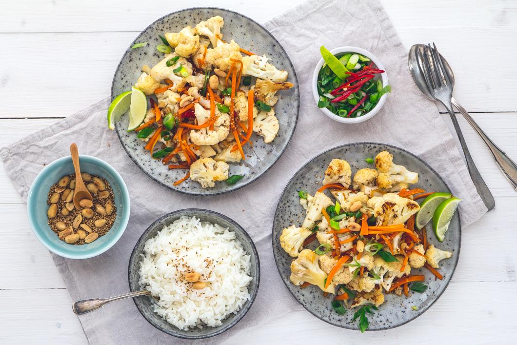 Asiatischer Blumenkohl-Salat