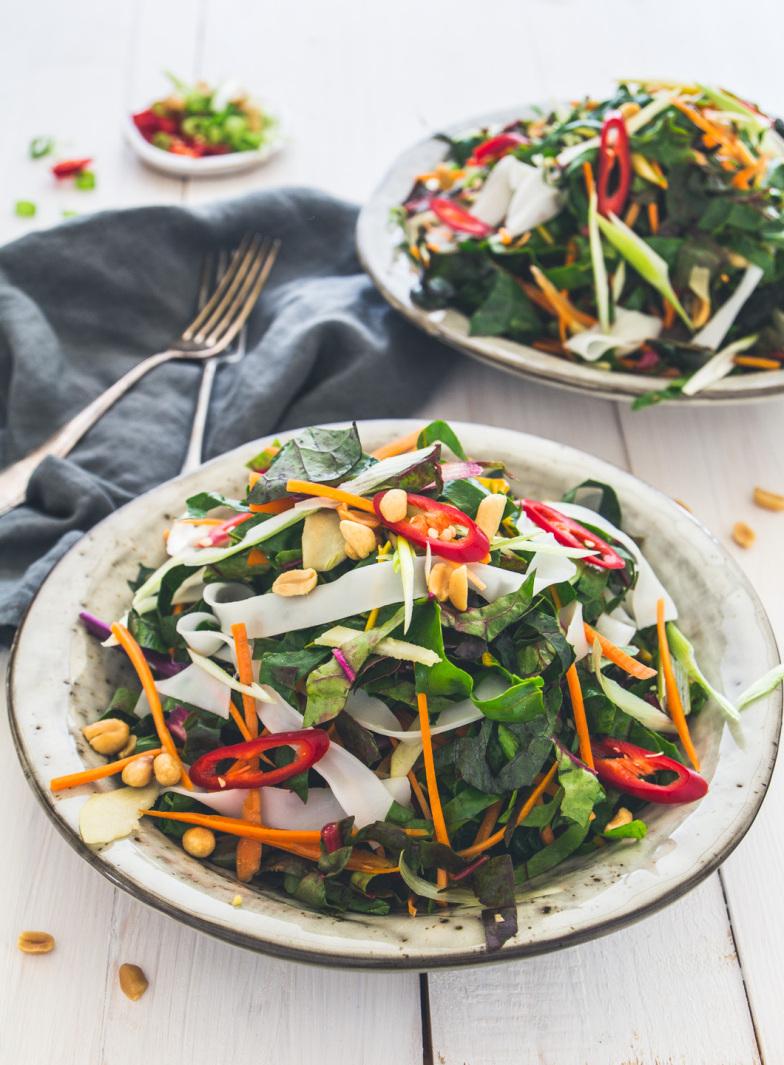 Pad Thai Salat mit Mangold-2