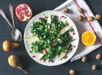 Feldsalat mit Birne, Walnuss & Orangen-Vinaigrette • Weihnachtsmenü 2014