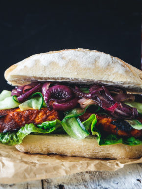 Barbecue Tofu Sandwich