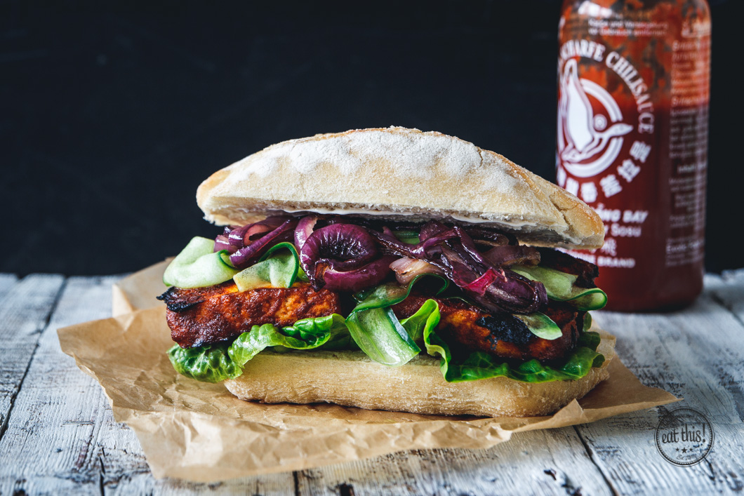 Barbecue Tofu Sandwich · eat this!