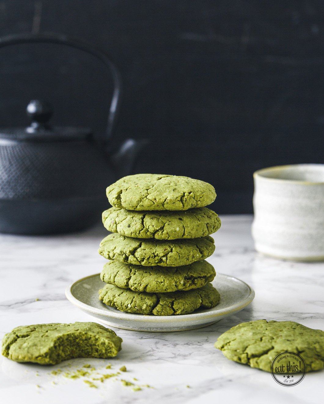 Wach Auf Matcha Kekse Eat This Foodblog Vegane Rezepte Stories