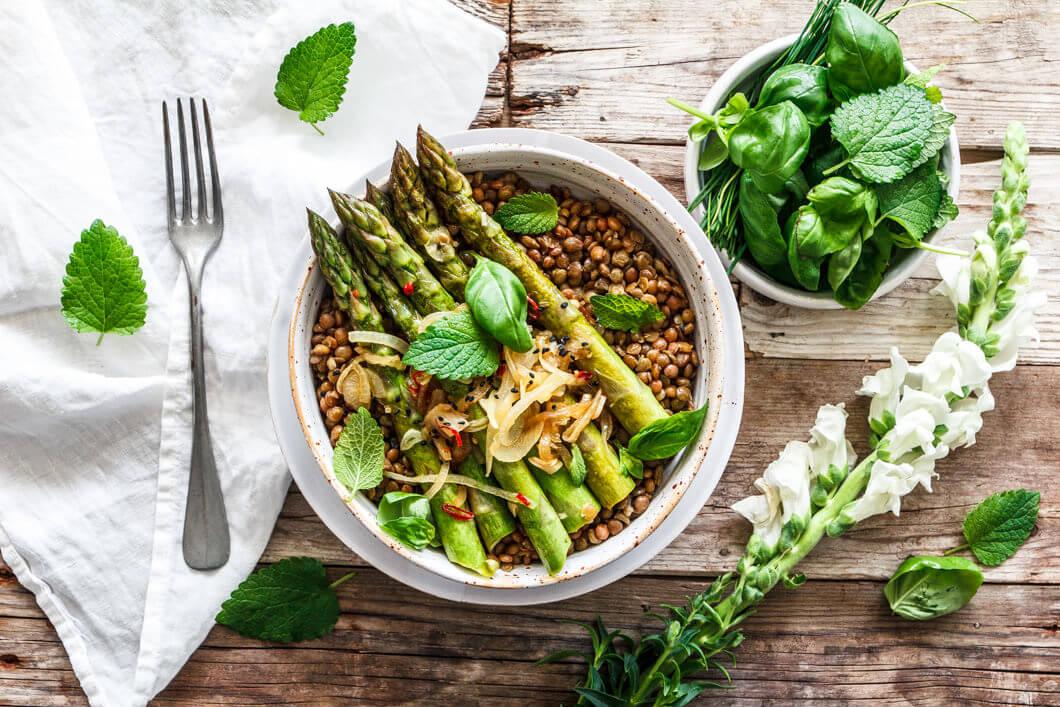 Alblinsen-Spargel-Salat