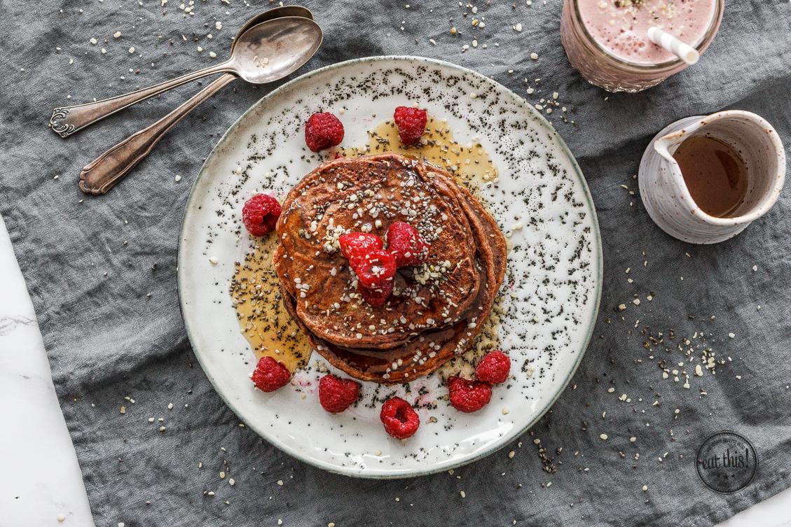 15 Minuten Superfood Pancakes mit Berlin Organics
