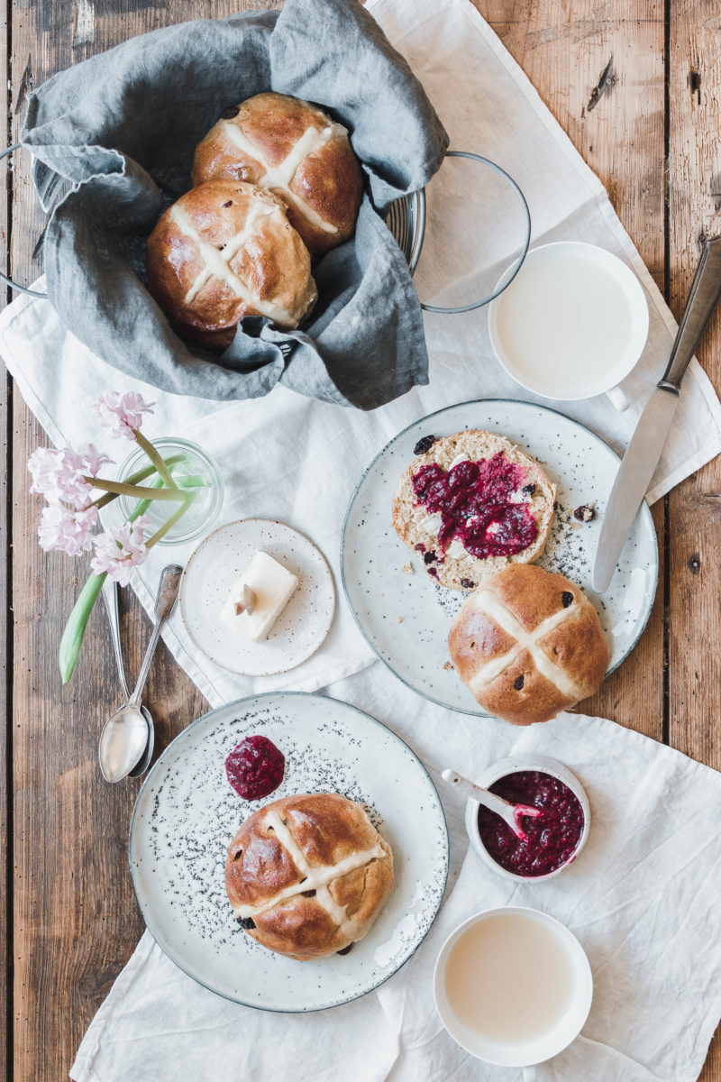 Vegane Hot Cross Buns