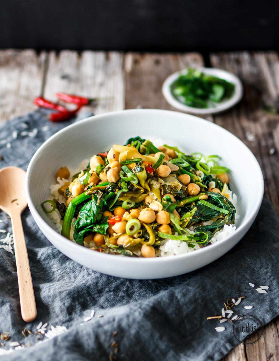 Spinat-Kichererbsen-Curry mit Kapern-2