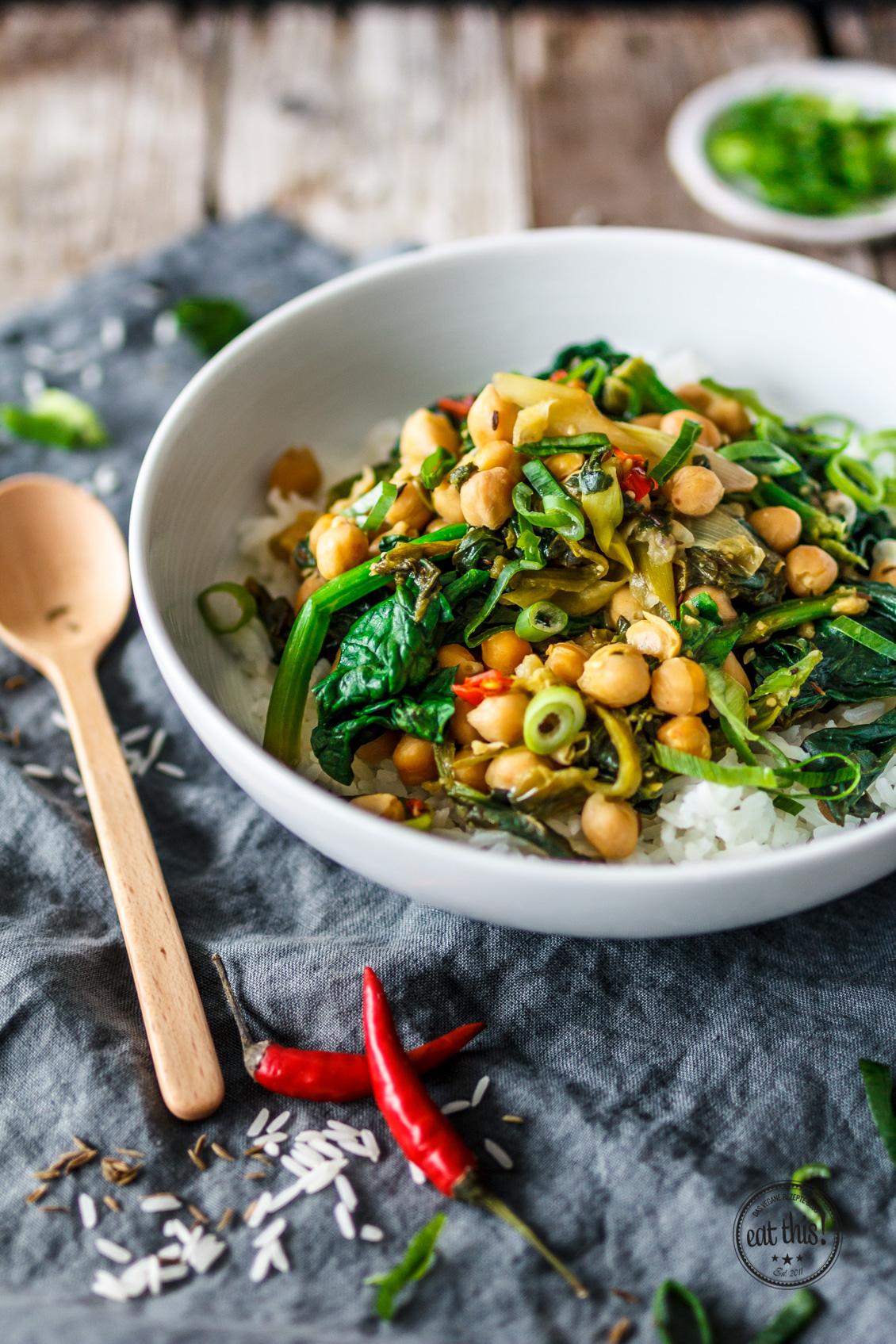 Spinat-Kichererbsen-Curry mit Kapern-4