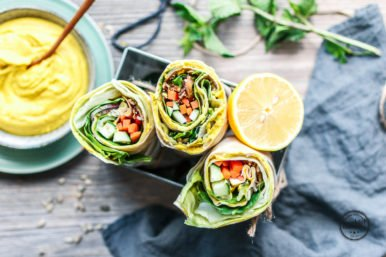 Hummus-Wrap – der perfekte Lunch-Snack!