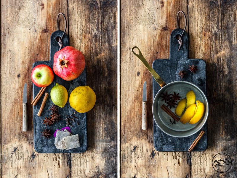 Heißer Früchtepunsch mit Cranberry & Aronia