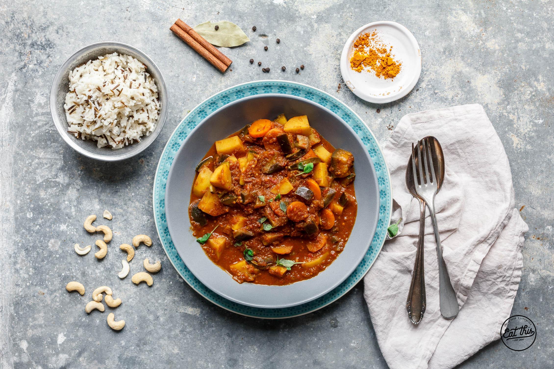 Kaschmir Curry mit Cashews & Garam Masala