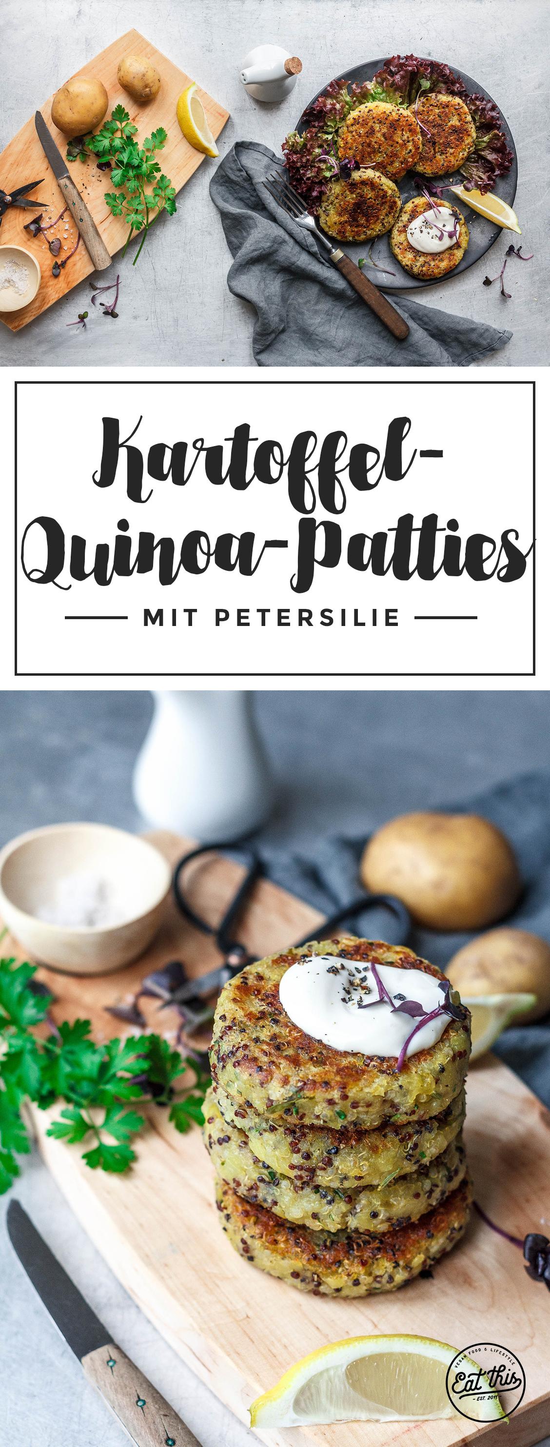 Einfache Kartoffel-Quinoa-Patties