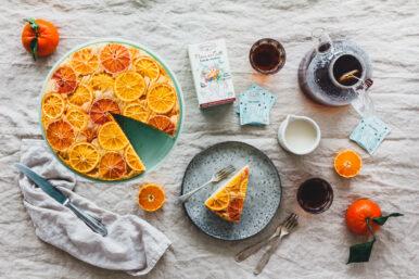 Polentakuchen mit Blutorangen & Chai Mokka von Hari Tea