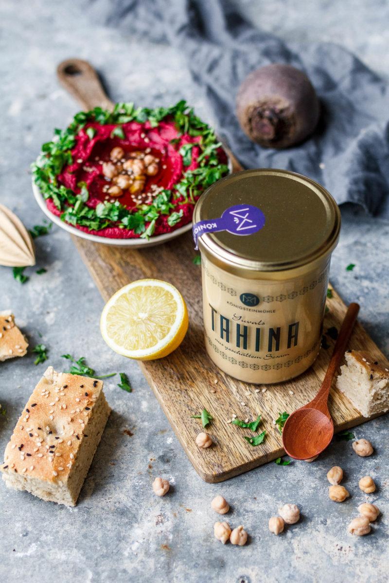 Hummus mit gerösteter Roter Bete