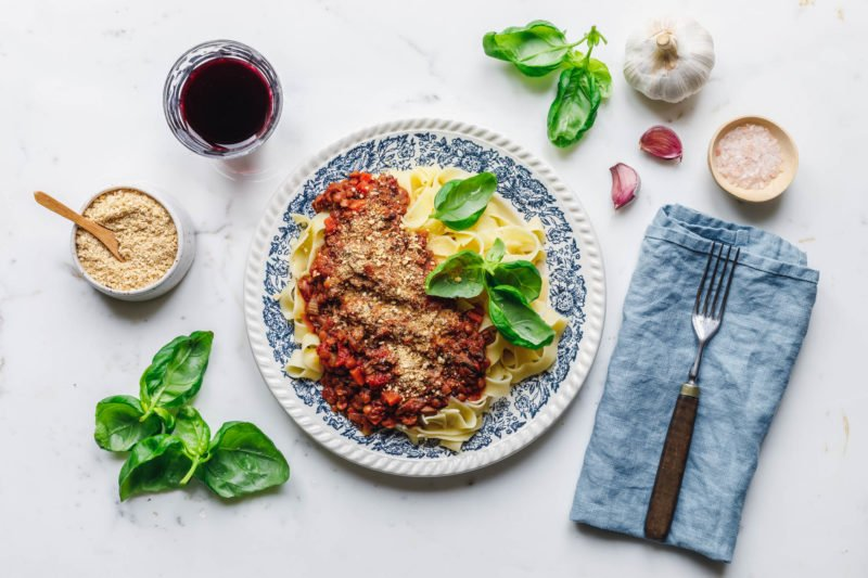 Perfekte vegane Linsenbolognese