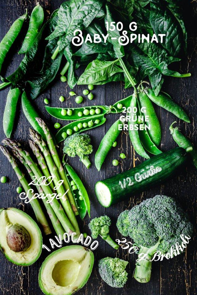 Super-grüne Good Life Frühlingsbowl - Zutaten