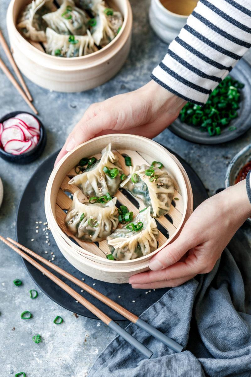 Gedämpfte vegane Dumplings