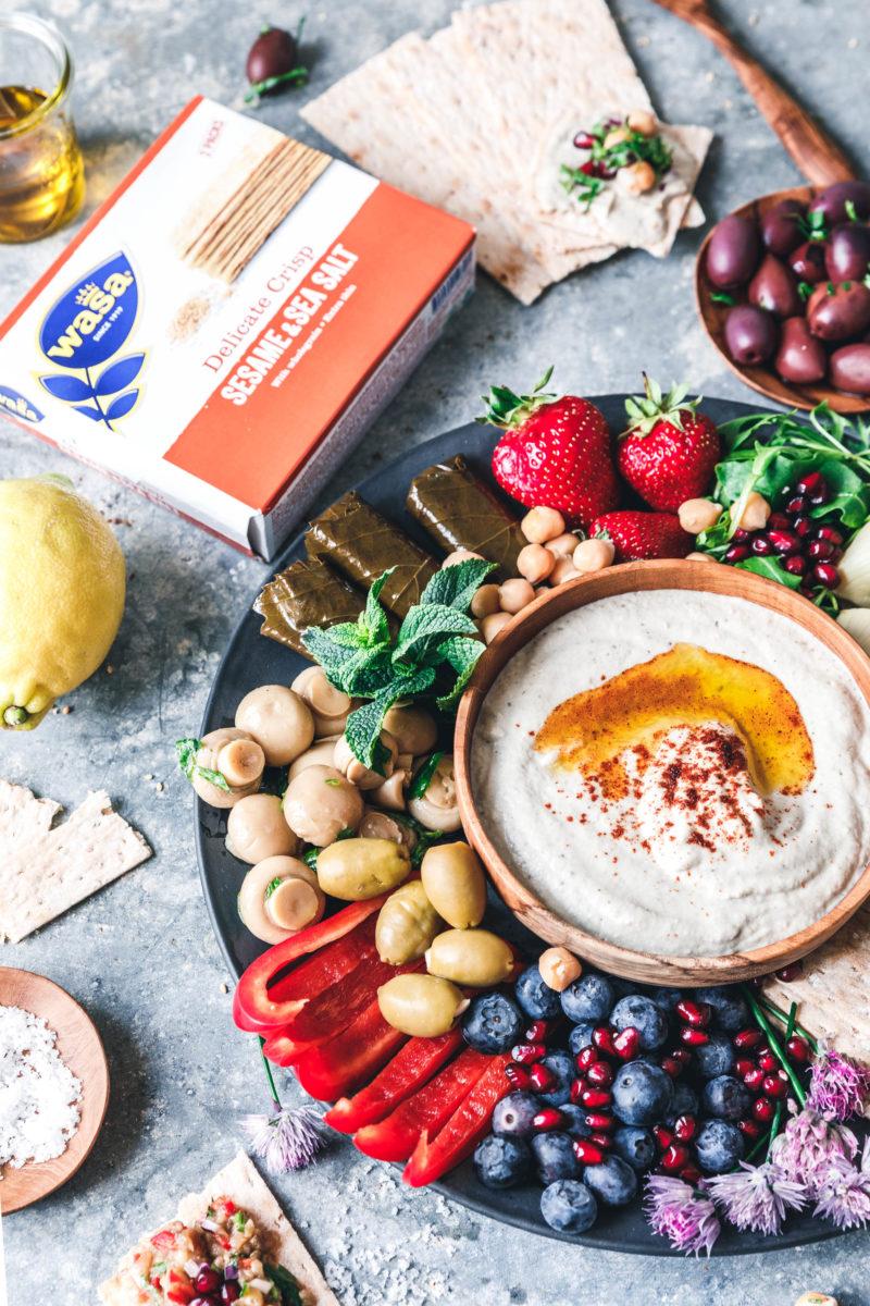 Mutabbal – orientalischer Auberginen-Dip für die Mezze-Platte mit Wasa Delicate
