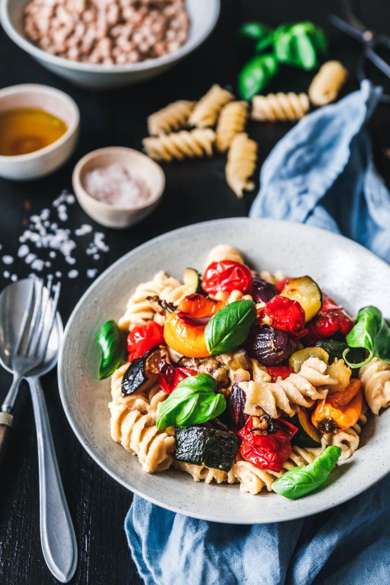 fusilloni mit ger stetem sommergem se mit edeka eat this vegan food lifestyle. Black Bedroom Furniture Sets. Home Design Ideas