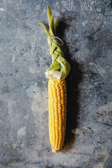 Maiskolben mit Hülle