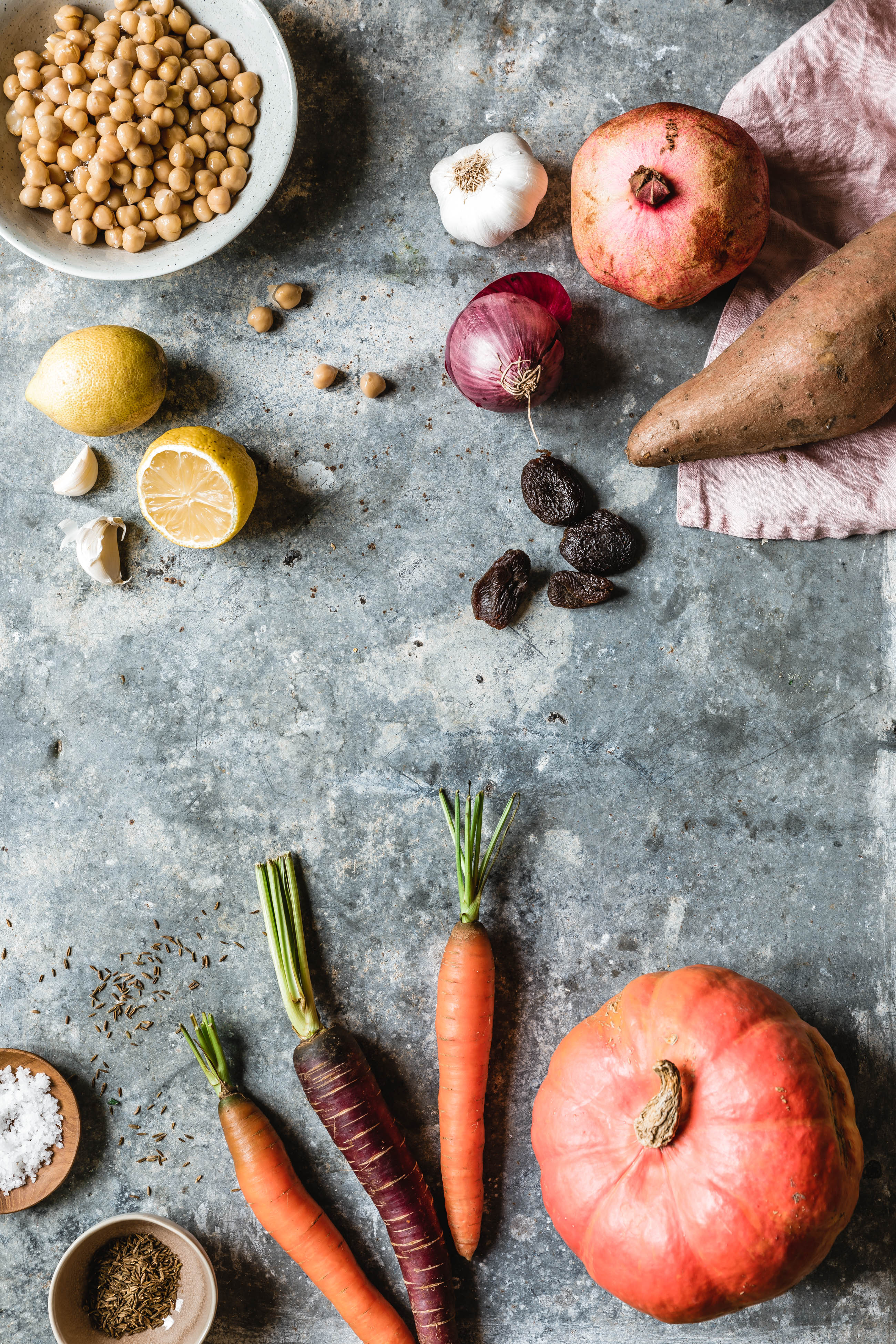 k rbis s kartoffel tajine mit couscous granatapfel eat this foodblog vegane rezepte. Black Bedroom Furniture Sets. Home Design Ideas