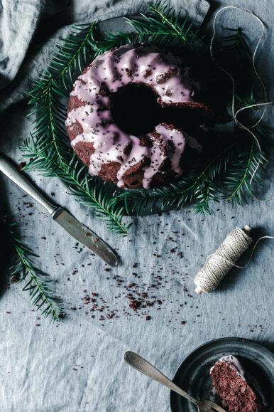 Veganer Rotweinkuchen mit Lebkuchengewürz