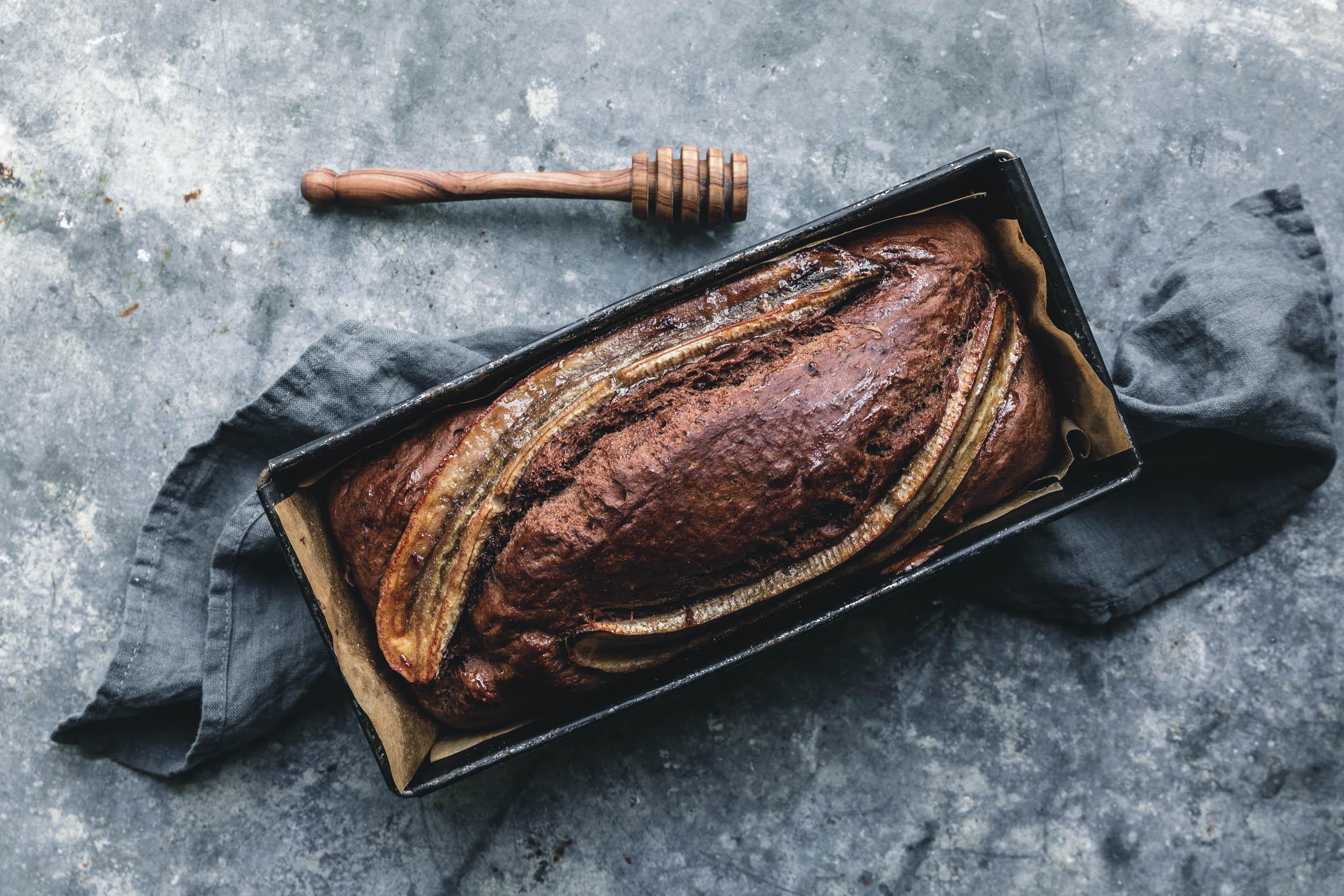 Das beste vegane Schoko-Bananenbrot mit gerösteten Walnüssen