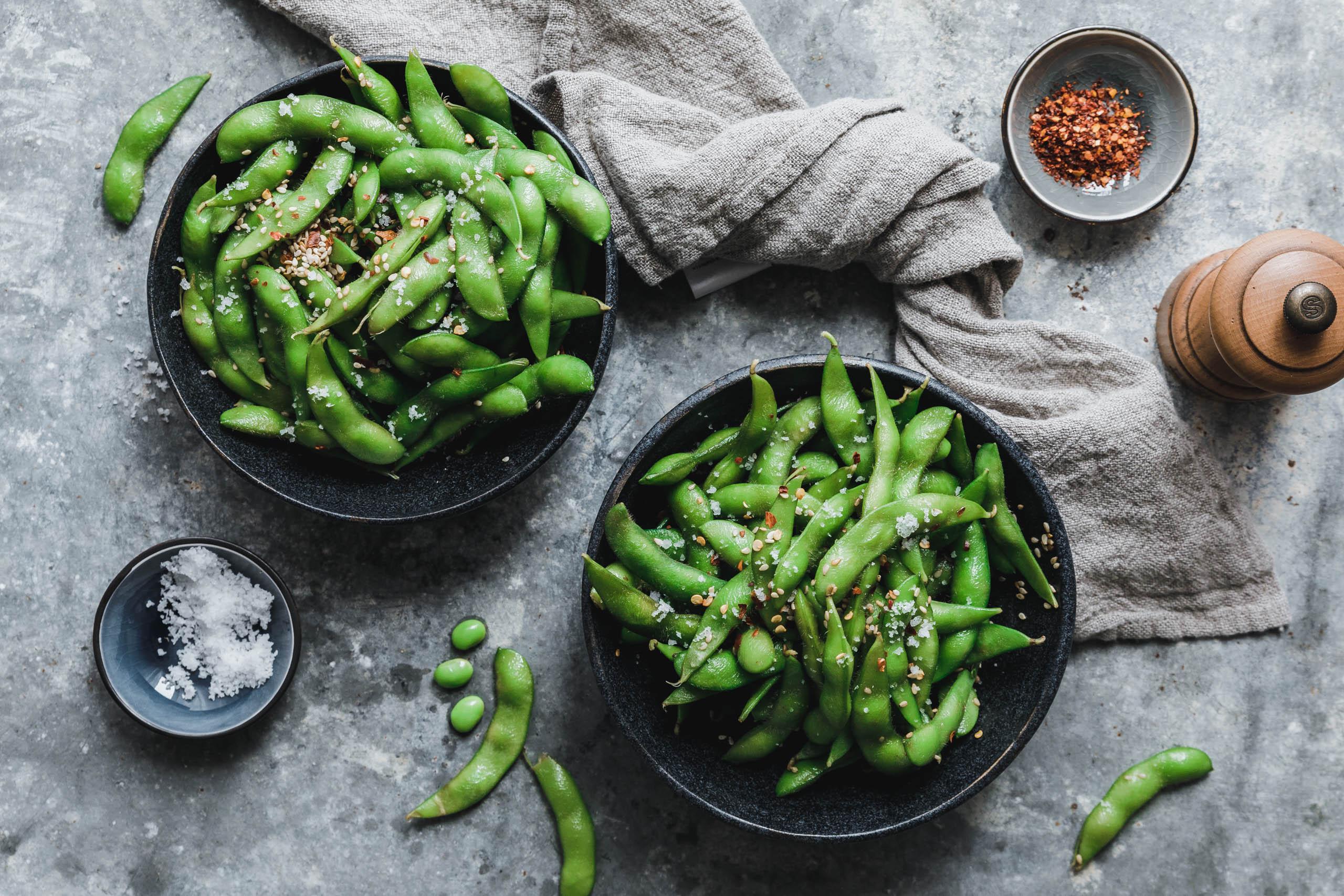 Edamame mit Sesam & Chili
