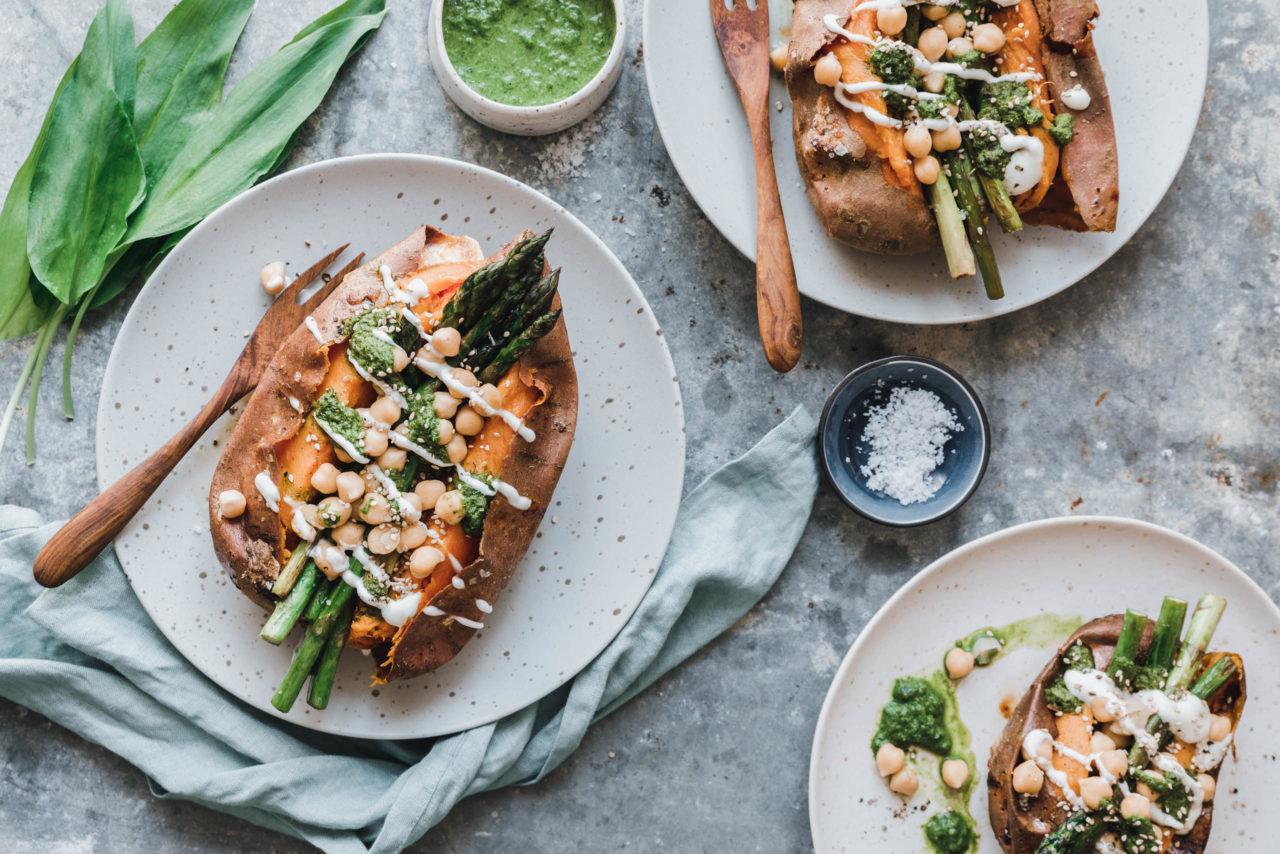 Gefüllte Süßkartoffel Mit Grünem Spargel Eat This Foodblog