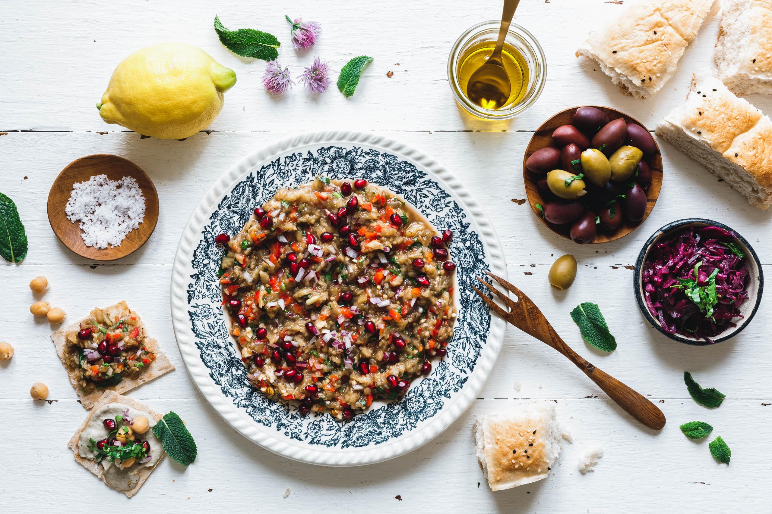 Baba Ganoush - orientalischer Auberginensalat