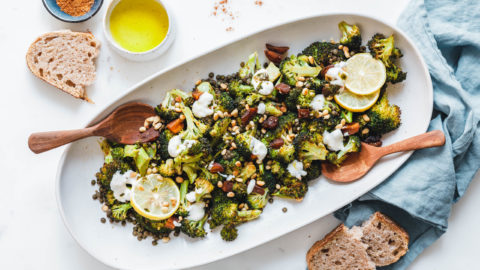 Gerösteter Brokkoli mit grünen Linsen & Ras el Hanout
