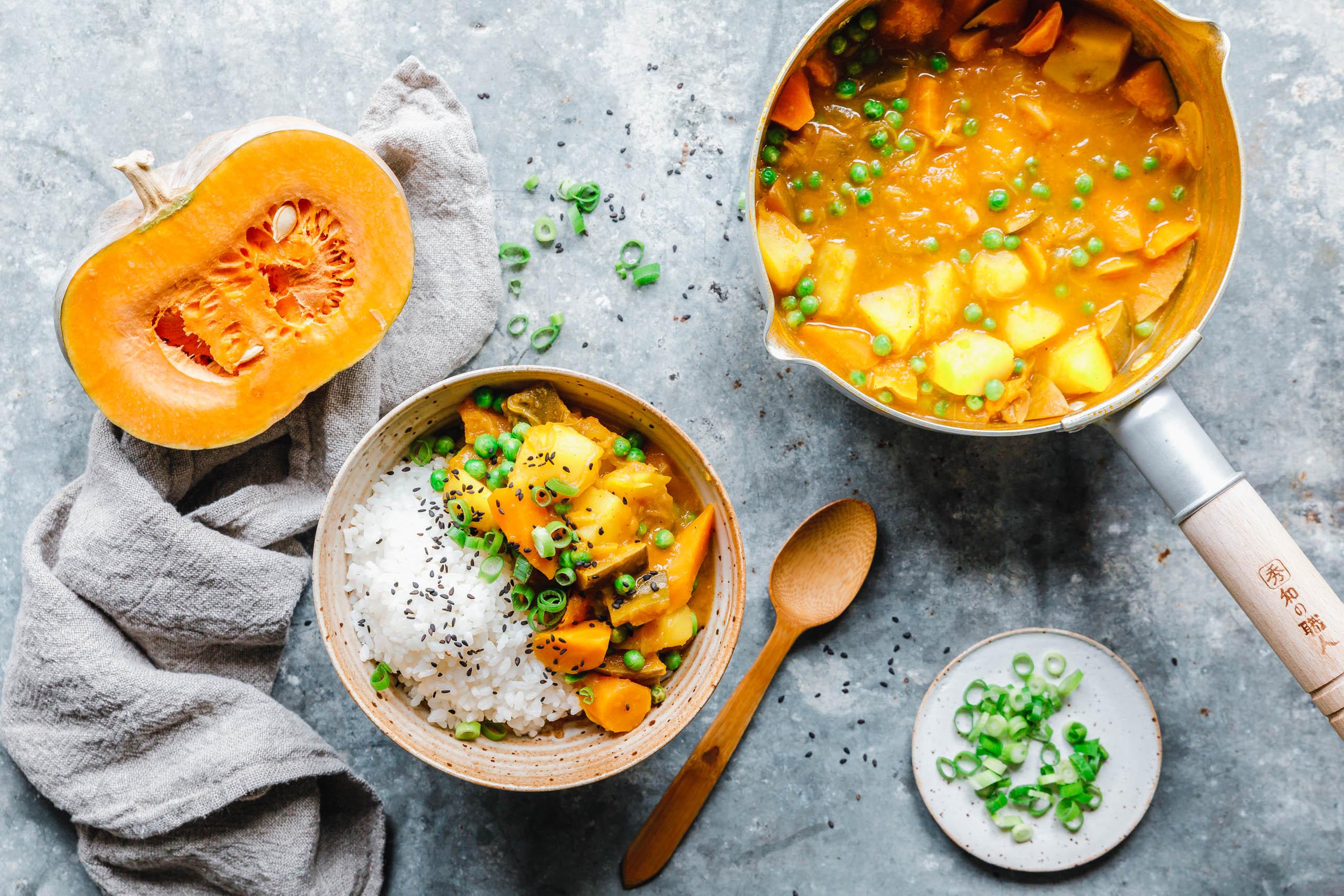 Japanisches Curry mit Muskat-Kürbis