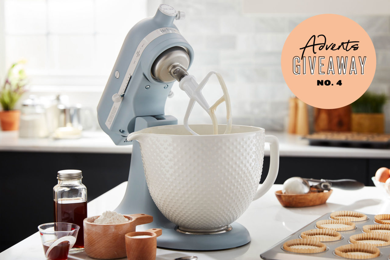 GIVEAWAY! KitchenAid Heritage Artisan Küchenmaschine Misty Blue