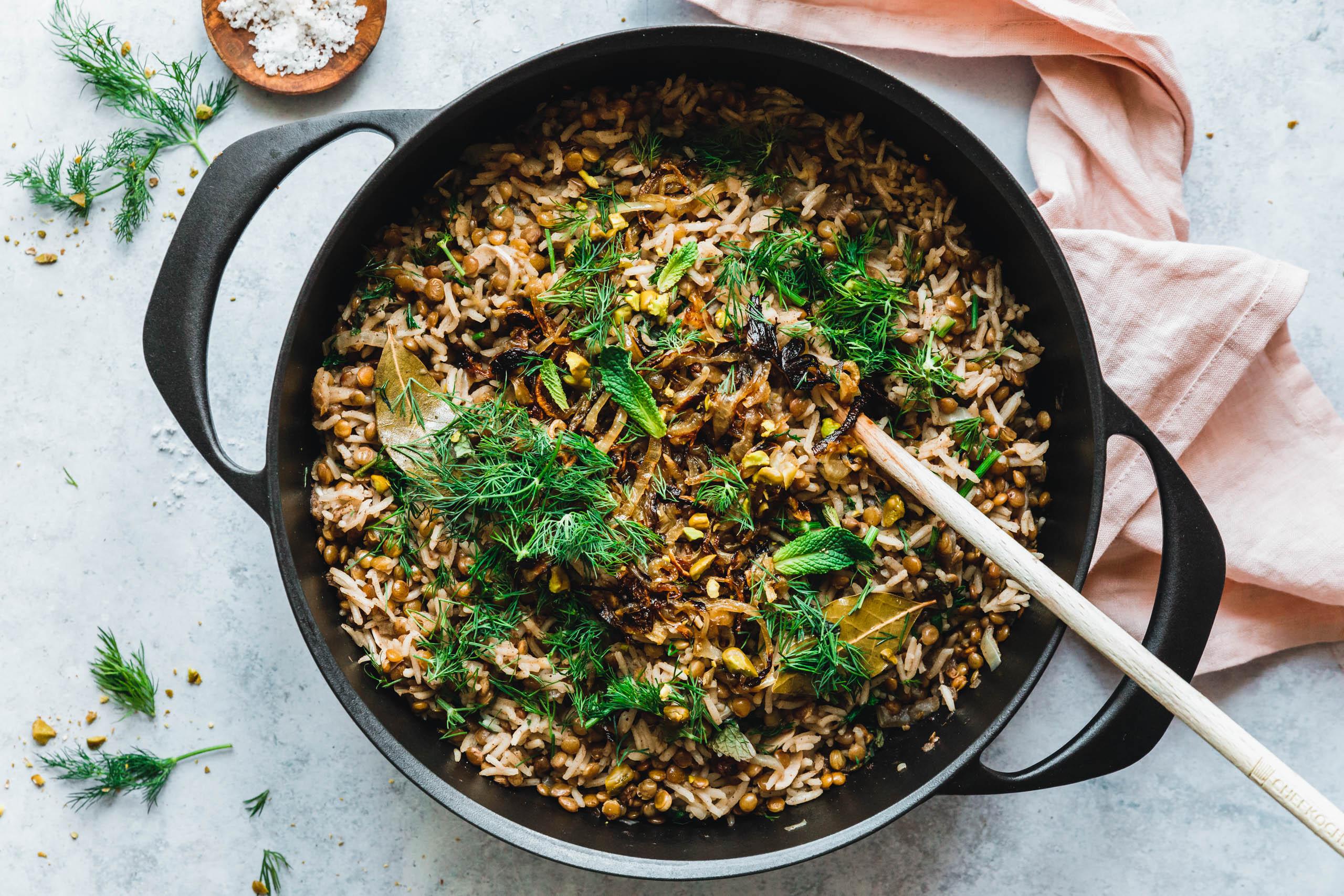 Mujadarra - die leckersten arabischen Linsen mit Reis