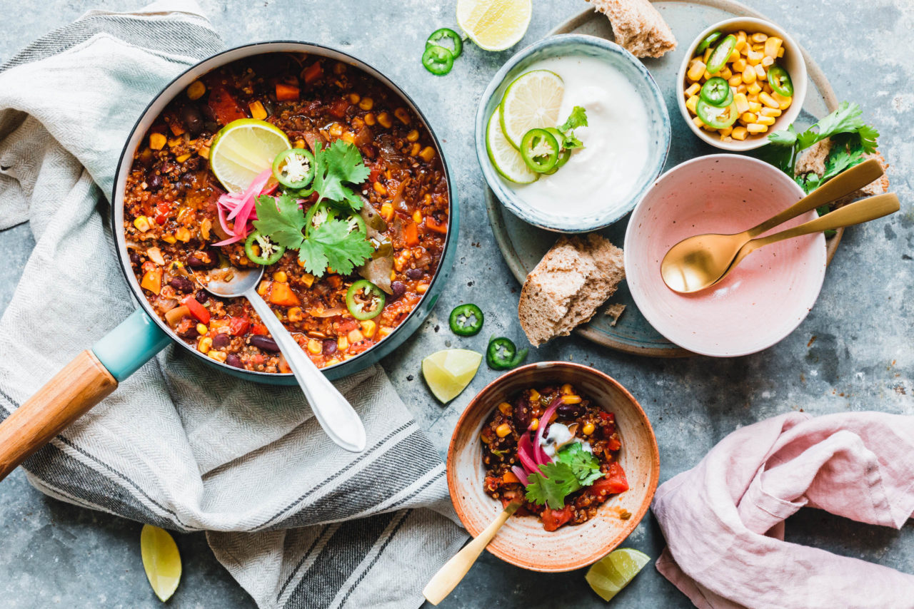 Schnelles One Pot Quinoa Chili