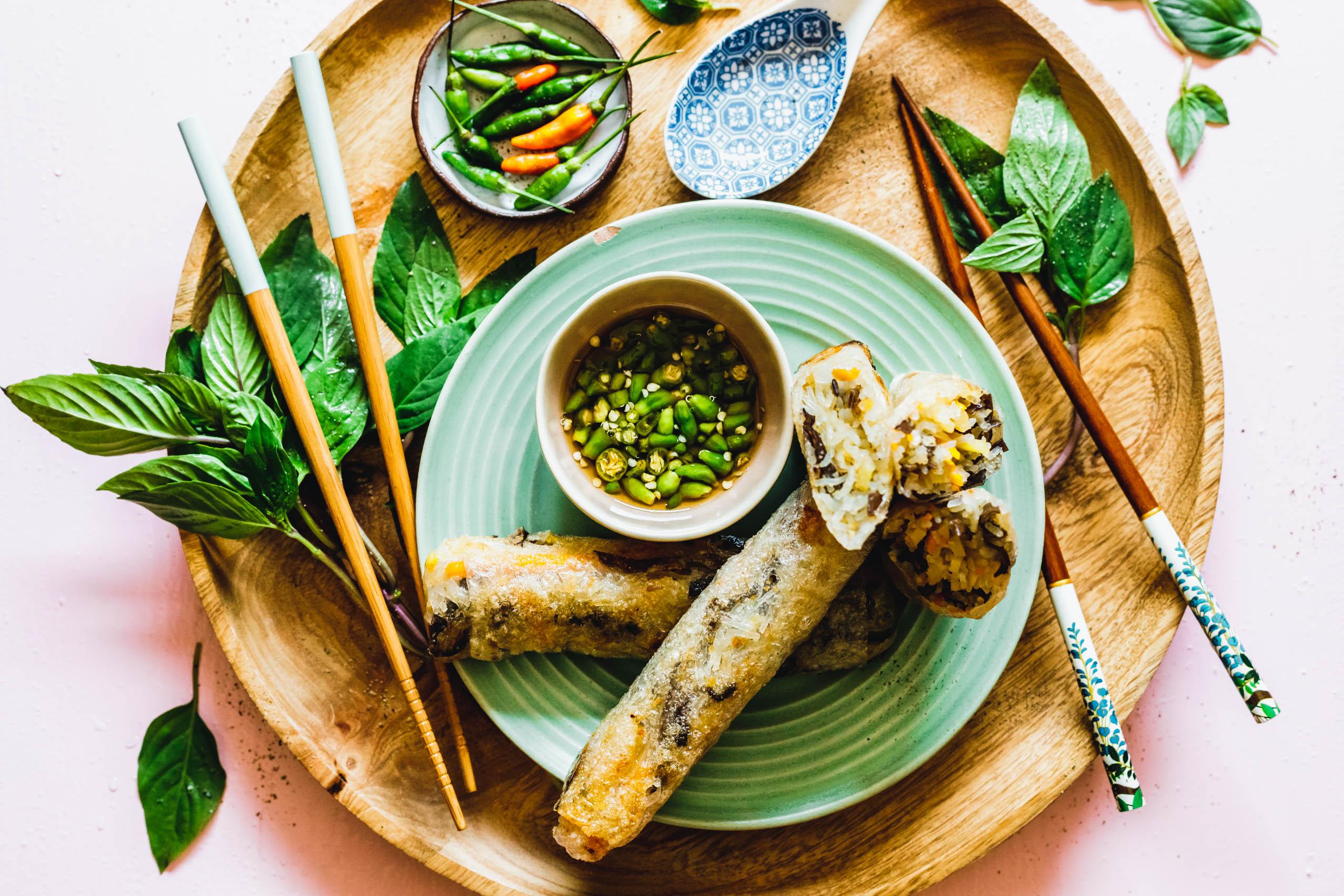 Vegane Nem Chay - vietnamesische Frühlingsrollen