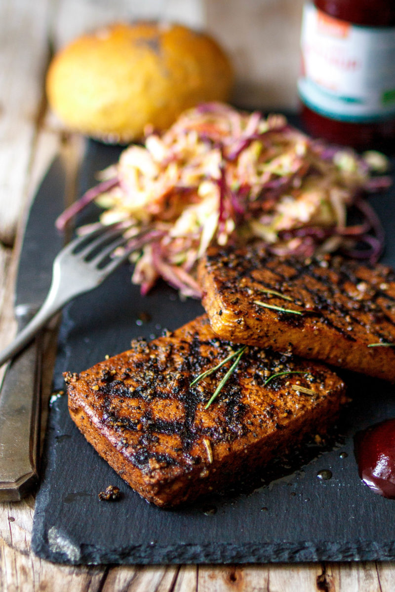 Tofu Steak London Style Vegan grillen kann jeder