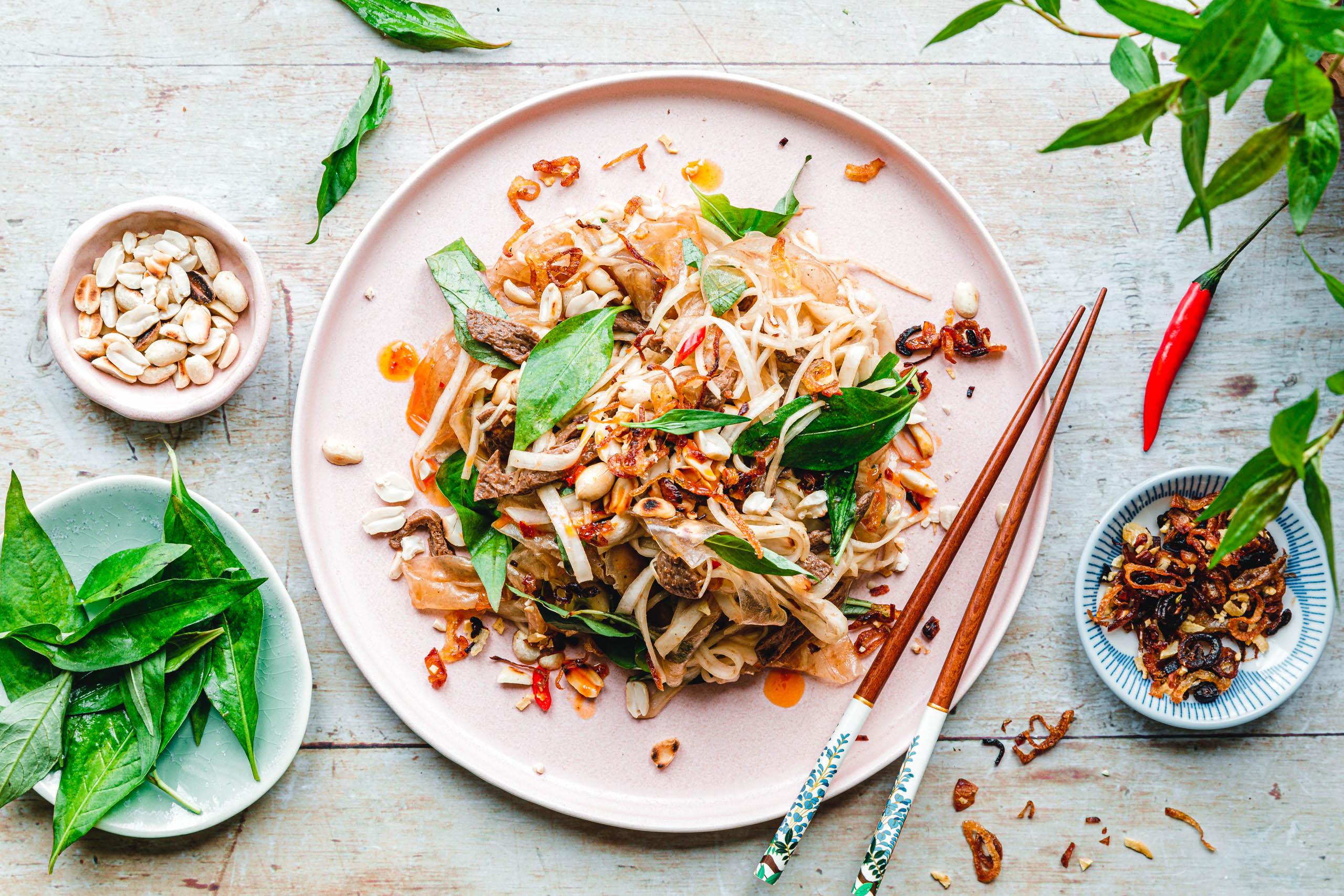 Bánh Tráng Trộn –vietnamesischer Reispapiersalat