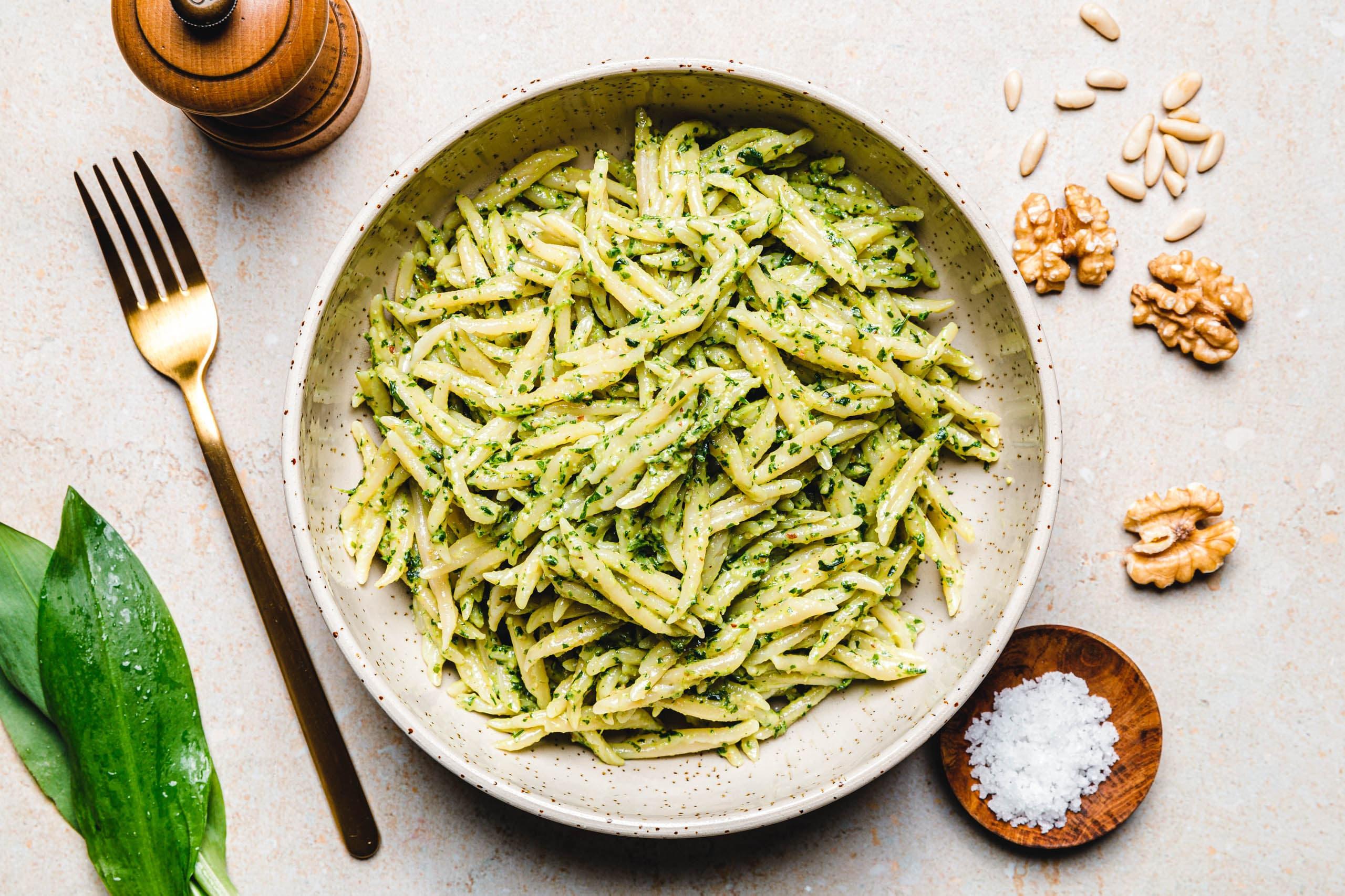 Veganes Rucola-Bärlauch-Pesto