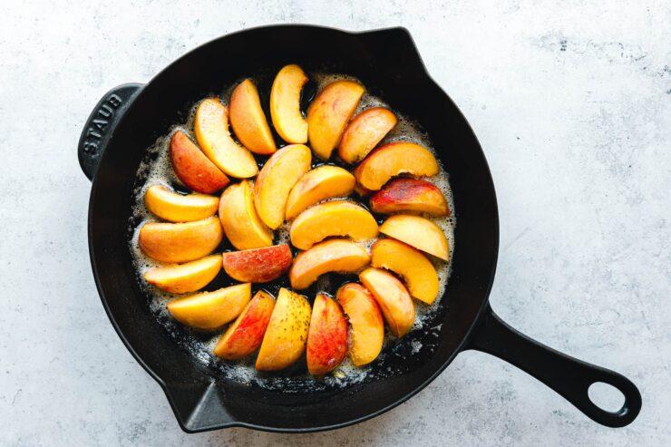 Zubereitung Pfirsich-Tarte-Tatin